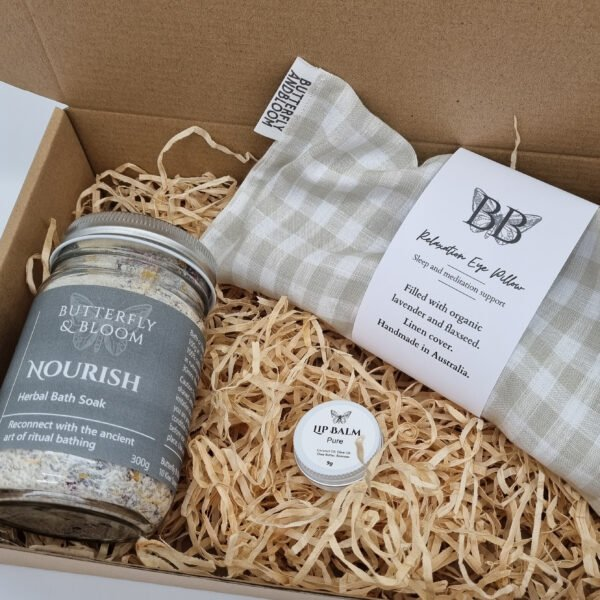 Natural gift box for sensitive skin by Butterfly and Bloom