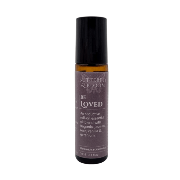 Be Loved Essential oil roller blend by Butterfly and Bloom Brisbane