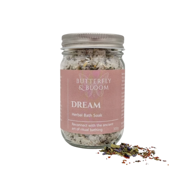 Herbal bath soak for sleep by Butterfly and Bloom