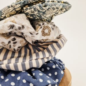 Australian Handmade scrunchies using fabric offcuts by Butterfly and Bloom