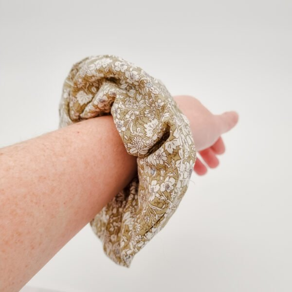 Upcycled fabric scrunchies by Butterfly and Bloom