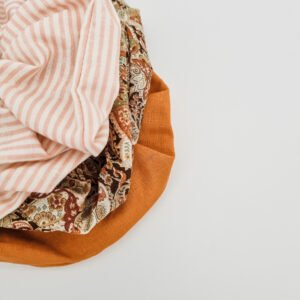 Sustainable scrunchies made using fabric offcuts