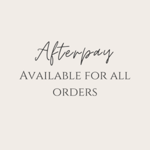 Afterpay available for all orders Butterfly and Bloom