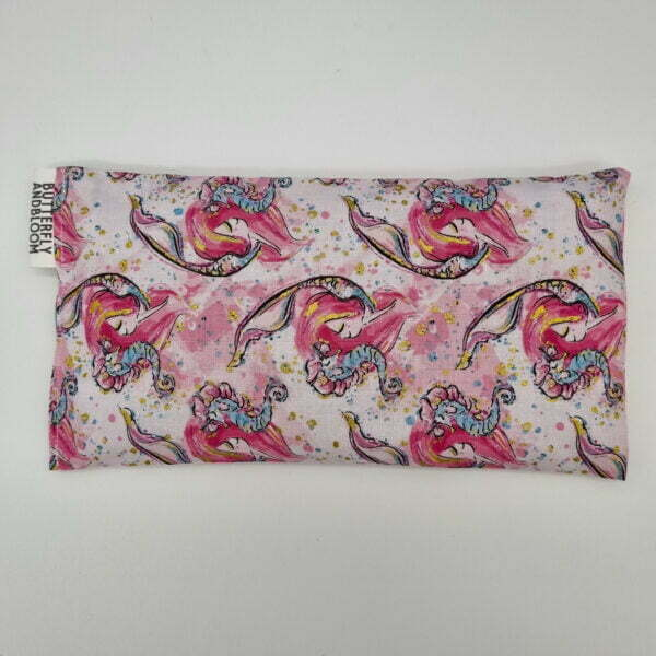 Pink mermaid eye pillow Butterfly and Bloom