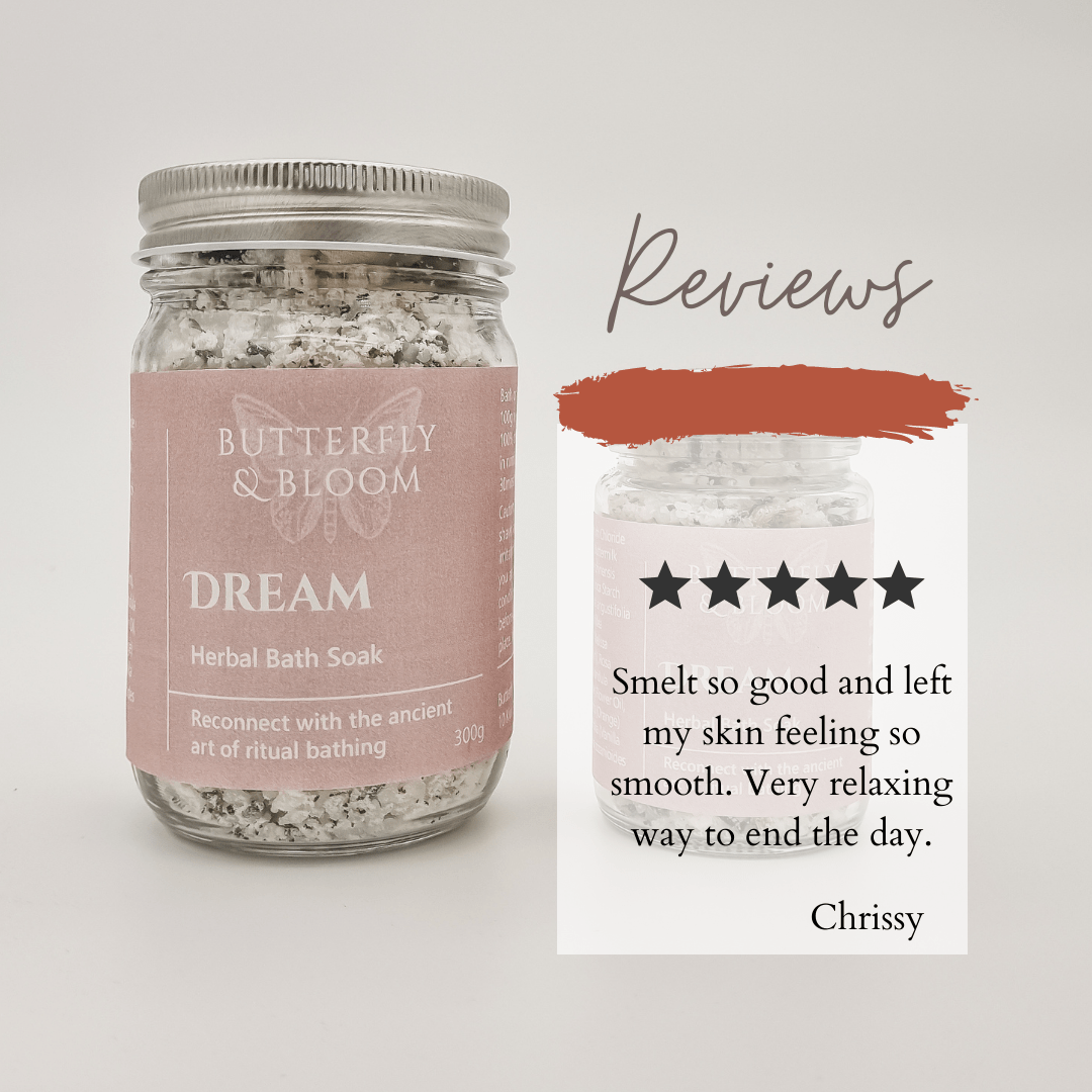 Dream Bath Soak product review Butterfly and Bloom