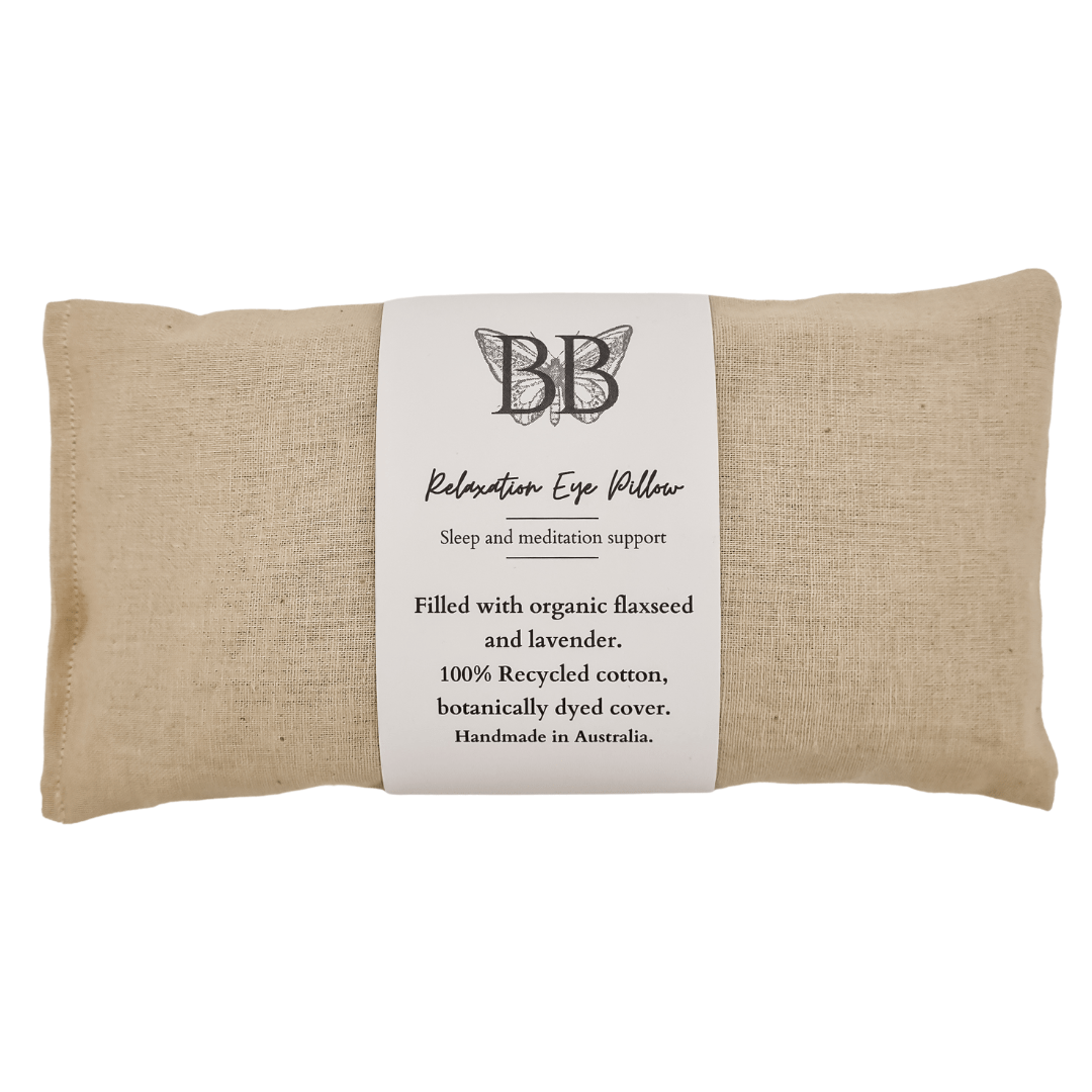 Lavender filled eye pillows made with recycled cotton