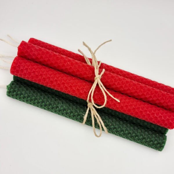 Christmas beeswax candles Butterfly and Bloom