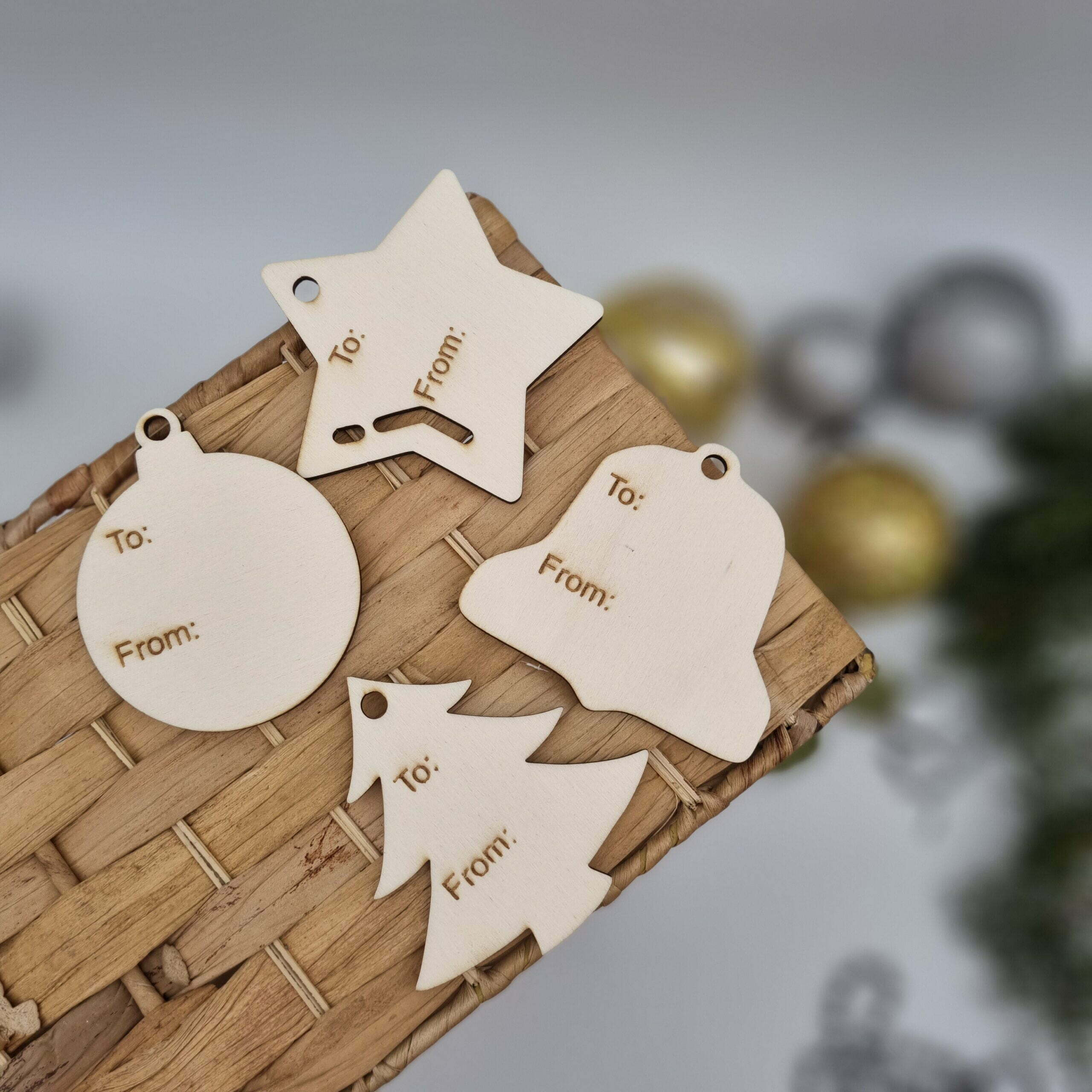 Reusable timber gift tags Butterfly and Bloom